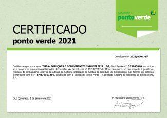 TM2A - Certificado ponto verde 2021
